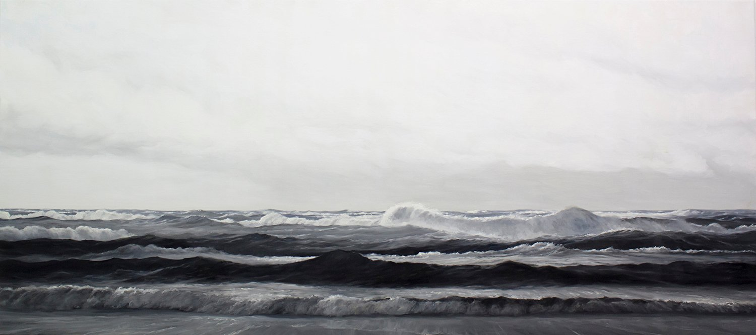 """Clear Sighted When Stormy"", 80x180 cm, olie på lærred (solgt)"